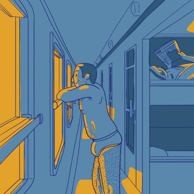 Dans le train de nuit...